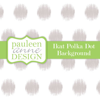 Grey Ikat Polka Dot Background