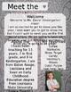 Grey Paisley Meet The Teacher Template **Editable**