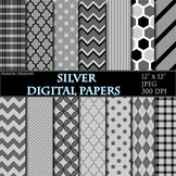 Grey Pink Digital Papers Gray Papers Geometric Scrapbookin