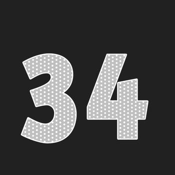 Grey Polka Dot Alphabet Clip Art + Numerals, Punctuation and Math Symbols