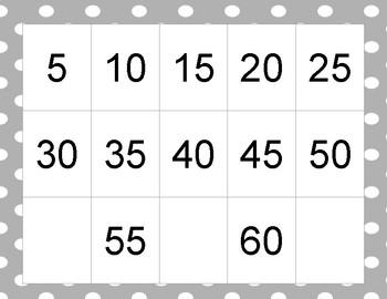 Grey Polka Dot Skip-Counting Poster