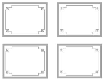 Grey Printable Classroom Decor
