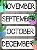 Calendar Decor Pack  Grey Shiplap & Watercolor Cactus 