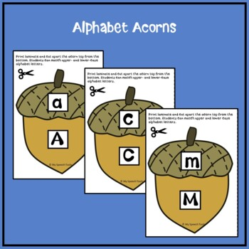 Speech Therapy Squirrel and Acorn Game Companion