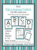 Grey & Teal Sign Language Poster Set