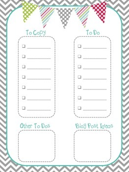 Grey & Teal Teacher To Do List