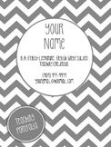 Grey Themed Editable Teaching Portfolio