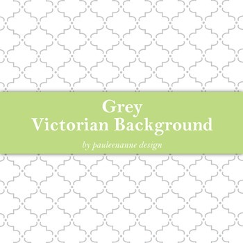Grey Victorian Pattern Background