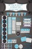 Grey and Blue Chevron Starter Kit