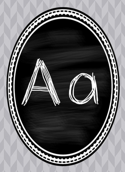 Grey and Chalkboard Alphabet