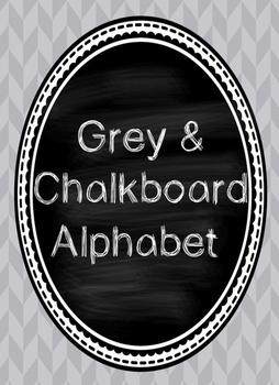 Grey and Chalkboard Alphabet