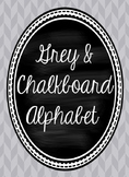 Grey and Chalkboard Cursive Alphabet
