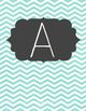 Grey and Teal Chevron Word Wall Letters