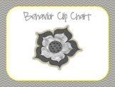Grey and Yellow Chevron Behavior Clip Chart
