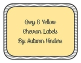 Grey and Yellow Chevron Labels
