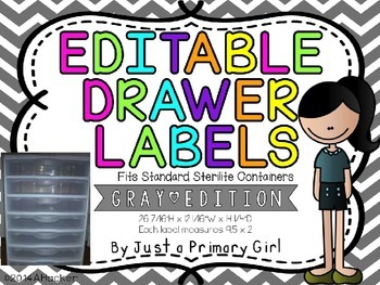 Grey/Gray ChevronEditable Drawer Labels