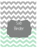 Grey/Teal Chevron Sub Binder-Editable
