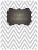 Grey/Yellow Chevron Binder Covers - {CHALKBOARD}