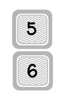 Greyscale Chevron Numbers 1-20