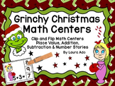 Grinchy Christmas Place Value, Addition/Subtraction Clip &