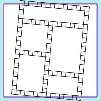 Grid Based Templates for Worksheets or Newsletters Blank Clip Art Set