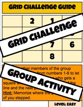 Grid Challenge- Back to School Activity
