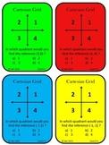 Cartesian Coordinate System - Grid plotting task cards