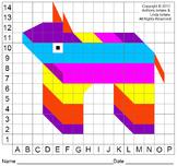 Piñata, Cinco de Mayo, Mexico, Color Grid, Graphing