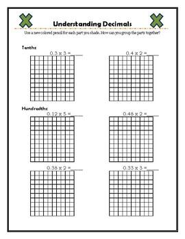 Decimals on a Grid (+, -, x, ÷)