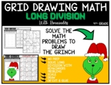 Grid Drawing Math Puzzle LONG DIVISION WITH REMAINDERS - THE GRINCH