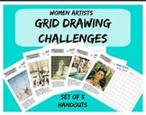 Grid Drawing Challenge - Women Artists Art Worksheets - Se
