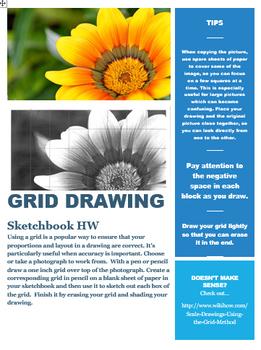 Grid Drawing Homework Handout