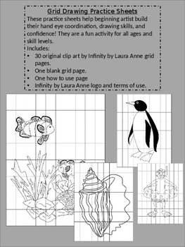 Grid Drawing Practice Sheets