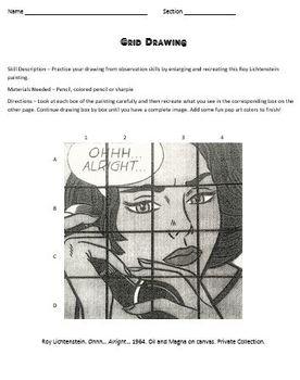 Grid Drawing Skill Sheet or Sub Plan