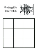 Grid Drawing Worksheet - Rainbow Fish