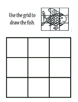Grid Drawing Worksheet - Rainbow Fish