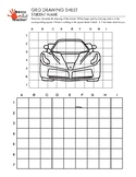 Grid Drawing Worksheet for Elementary/Middle School Students