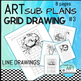 SUB PLAN- Grid Drawing Package #3 summer theme