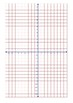 Grid Four Quadrant x,y axis Paper 10mm Black, Blue and Red