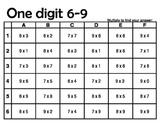 Grid Games - 1 Digit Multiply