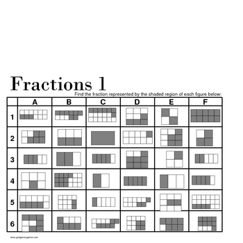 Grid Games for Elementary Math - Fractions and Percents