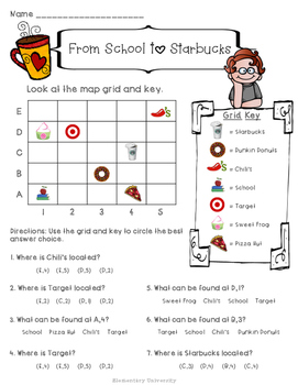grid map practice social studies sol 3 6 by elementary university. Black Bedroom Furniture Sets. Home Design Ideas