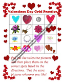 Grid Map Practice Worksheet with a Valentines Day Theme