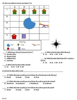 Grid Map Quiz and Activities