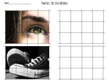 Grid Method Drawing Worksheet By The Fours Next Door Tpt