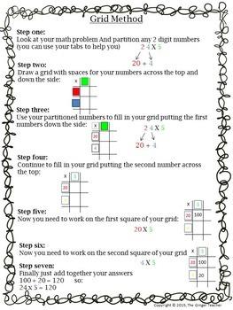 Grid Method, Easy Multiplication, Math lesson