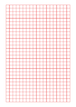 Grid Paper 10mm Black, Blue and Red