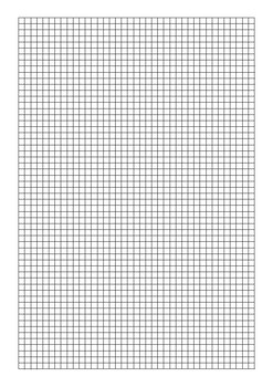 Grid Paper 5mm Black, Blue and Red