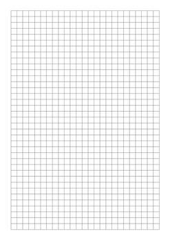 Grid Paper 7.5mm Black, Blue and Red