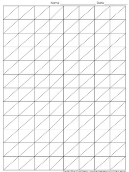 Graph Paper: Full Page Grid - Lattice Multiplication - 8x12 boxes
